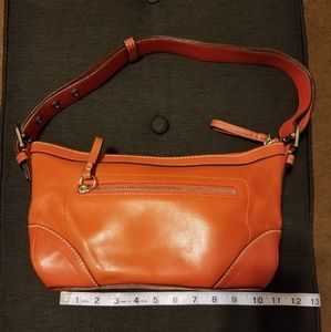 Coach orange leather purse